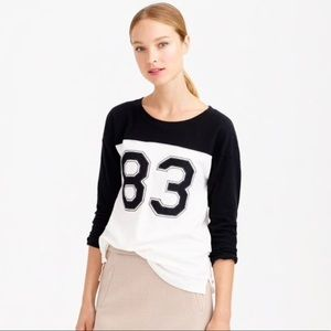 Jcrew 83 Football t-shirt